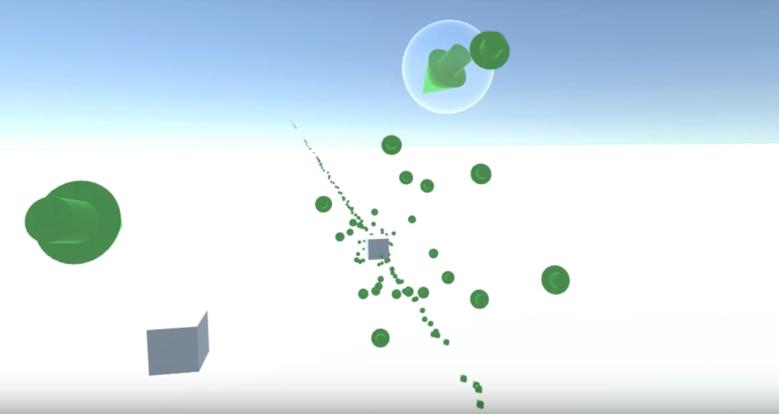 3D navigation arrows in VR